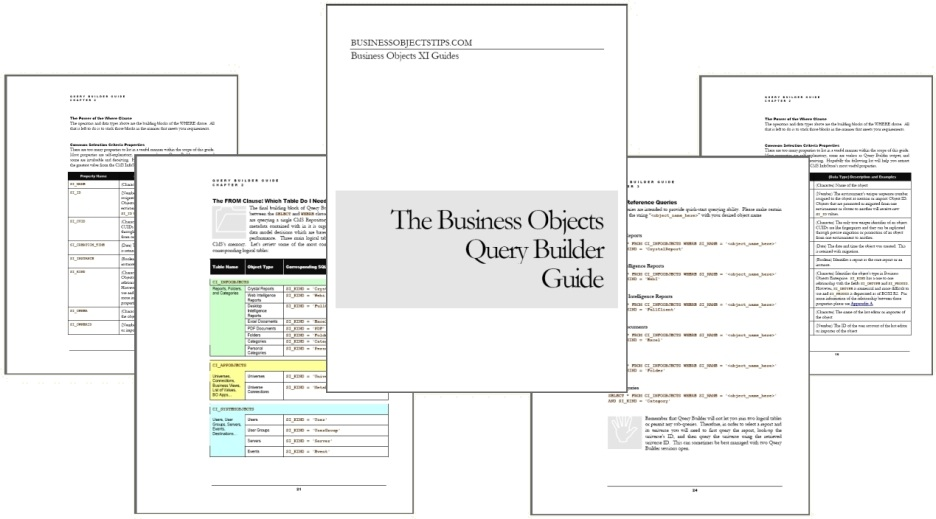 business objects query builder guide boxi businessobjects xi rh businessobjectstips com