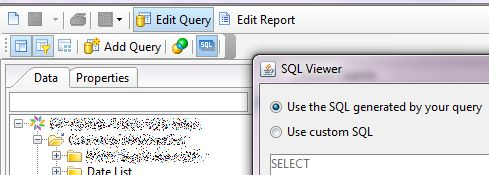 BusinessObjects - Web Intelligence - Use Custom SQL