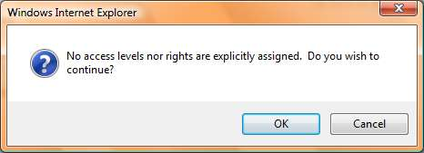 business-objects-xi-3.1-explicitly-denying-access-warning-message